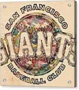San Francisco Giants Poster Vintage Acrylic Print
