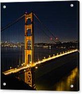 San Francisco Golden Gate Bridge At Blue Hour Acrylic Print