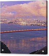 San Francisco Golden Gate Bridge At Dusk Acrylic Print