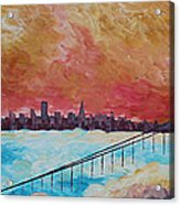 San Francisco Golden Gate Bridge In The Clouds Acrylic Print