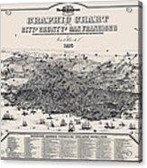 San Francisco Graphic Map 1875 Acrylic Print