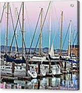 San Francisco Harbor At Pier 39 Acrylic Print by Artist and Photographer Laura Wrede