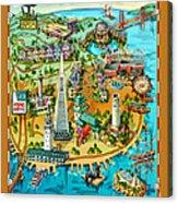 San Francisco Illustrated Map Acrylic Print