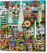 San Francisco Illustration Acrylic Print