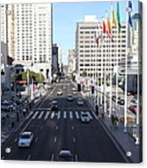 San Francisco Moscone Center And Skyline - 5d20515 Acrylic Print by Wingsdomain Art and Photography