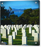 San Francisco National Cemetery In El Presidio Acrylic Print