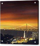 San Francisco Oakland Bay Bridge At Sunset Acrylic Print
