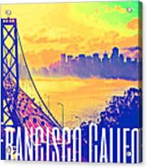 San Francisco Postcard Acrylic Print