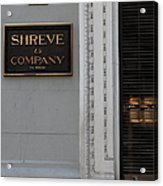 San Francisco Shreve Storefront - 5d20579 Acrylic Print by Wingsdomain Art and Photography