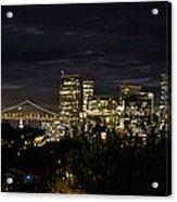 San Francisco Skyline And Oakland Bay Bridge At Blue Hour Acrylic Print