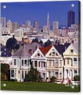 San Francisco Skyline From Alamo Square Acrylic Print