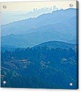 San Francisco Skyline From Mount Tamalpias-california Acrylic Print