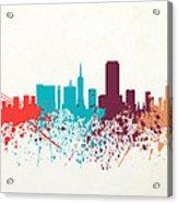 San Francisco Skyline Paint Acrylic Print
