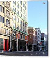 San Francisco Stockton Street At Union Square - 5d20564 Acrylic Print by Wingsdomain Art and Photography