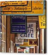 San Francisco Street Shops Acrylic Print