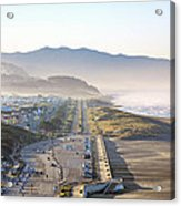 San Francisco Morning - The Great Highway Ocean Beach Acrylic Print