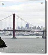 San Francisco Through The Golden Gate Acrylic Print