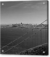 San Francisco Through The Golden Gate Bridge Acrylic Print by Twenty Two North Photography