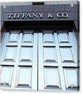 San Francisco Tiffany And Company Store Doors - 5d20562 Acrylic Print by Wingsdomain Art and Photography