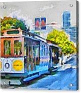 San Francisco Trams 4 Acrylic Print by Yury Malkov