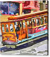 San Francisco Trams 5 Acrylic Print by Yury Malkov