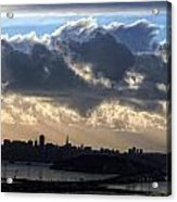 San Francisco Under Fogbank At Sunset Acrylic Print