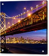 San Francisco - Under The Bay Bridge Acrylic Print