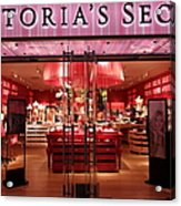 San Francisco Victoria's Secret Store - 5d20652 Acrylic Print by Wingsdomain Art and Photography