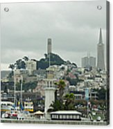 San Francisco View From Fishermans Wharf Acrylic Print