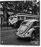San Francisco Vintage Scene Acrylic Print