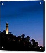 San Francisco's Coit Tower At Night Acrylic Print