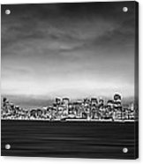 San Fransisco Cityscape Black And White Panorama Acrylic Print