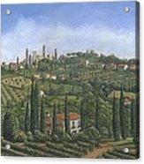 San Gimignano Tuscany Acrylic Print by Richard Harpum