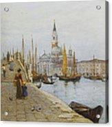 San Giorgio Maggiore From The Zattere Acrylic Print