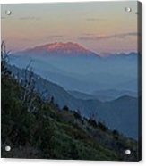 San Jacinto Sunset Acrylic Print