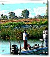 San Joaquin River Fish'n Acrylic Print