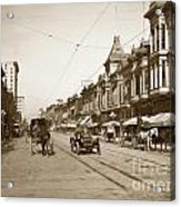 94-095-0001 Early Knox Automobile First Street San Jose California Circa 1905 Acrylic Print