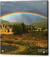 San Juan Mountains Rainbow Acrylic Print