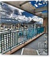 San Juan Puerto Rico Hdr Cityscape Acrylic Print by Amy Cicconi