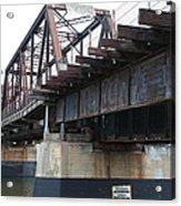 San Lorenzo River Train Bridge At Santa Cruz Beach Boardwalk California 5d23609 Acrylic Print