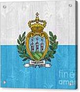 San Marino Flag Acrylic Print
