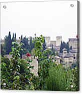 San Nicolas View Of The Alhambra On A Rainy Day - Granada - Spain - Spain Acrylic Print
