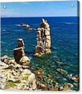 San Pietro Island - Le Colonne Cliff Acrylic Print