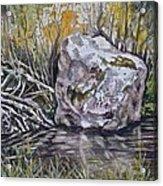 San Poil River Rock Acrylic Print