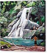 San Sebastian Waterfall Acrylic Print