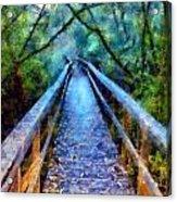San Simeon Foot Bridge Acrylic Print