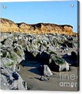 San Simeon Rocky Beach Acrylic Print
