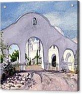 San Xavier Back Gate Acrylic Print