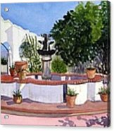 San Xavier Courtyard Acrylic Print