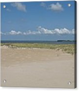 Sand And Ocean Of Assateague Island National Seashore Acrylic Print
